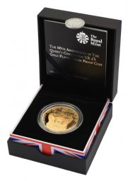 2013 Silver Proof £5 Coin Queen's Coronation Gold plated for sale